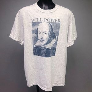 VTG 90s William Shakespeare Will Power Graphic Tee